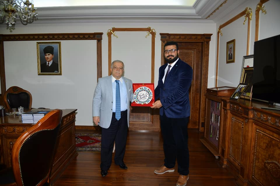Valimiz Sayın Necati ŞENTÜRK`e (TÜGVA) yönetim kurulu üyelerimizle birlikte ziyarette bulunduk.