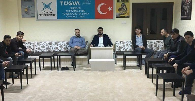 Haftalık sohbetimizi #TUGVA Ahi Evran-ı Veli Yurdunda gerçekleştirdik.