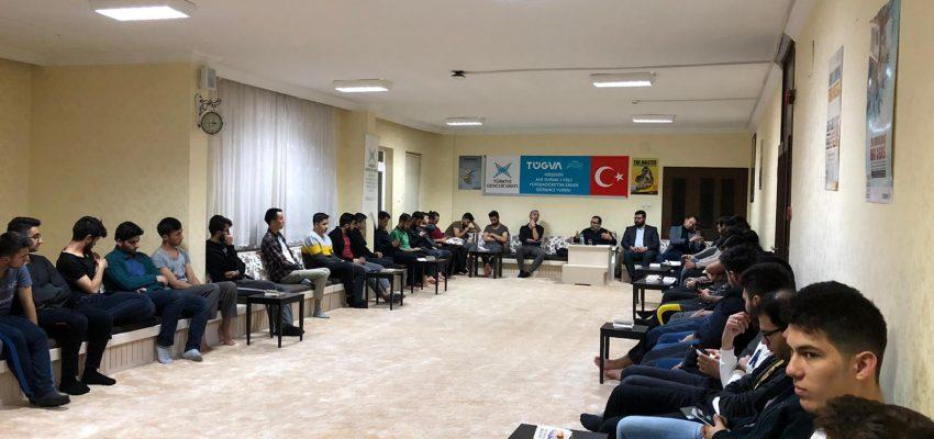 İl Müftü yardımcımız Hasan Hüseyin Aslantürk hocamız ile haftalık toplantımızı gerçekleştirdik.